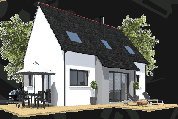 terrain+maison Saint-Yvi 199 000€