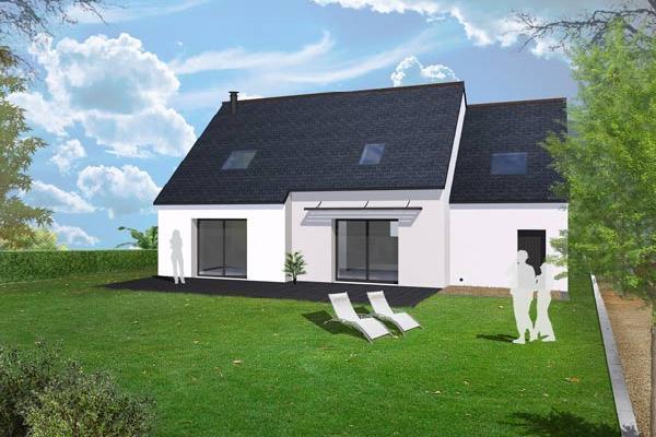 terrain+maison Plomodiern 188000€