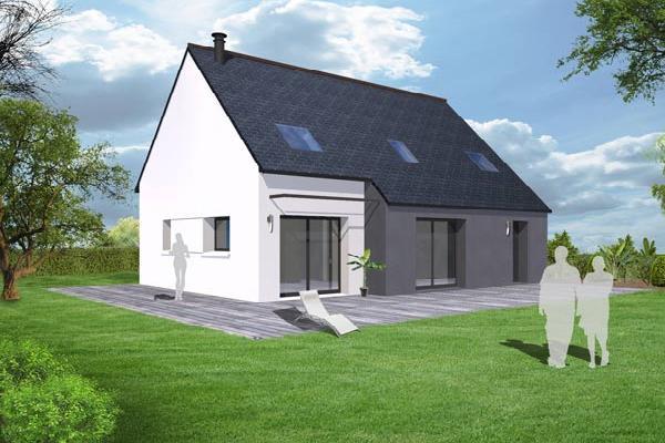 terrain+maison Plouédern 193100€